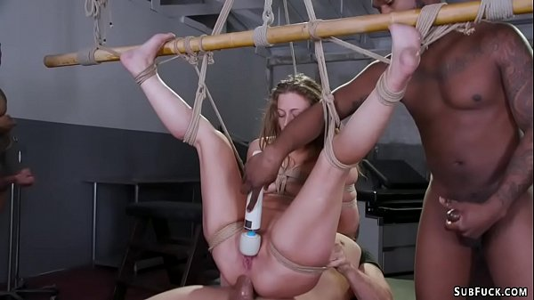 Therapist and four guys fuck bound babe