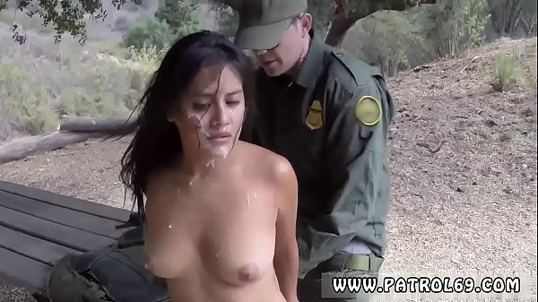Latina border patrol anal They gave pursue in t...