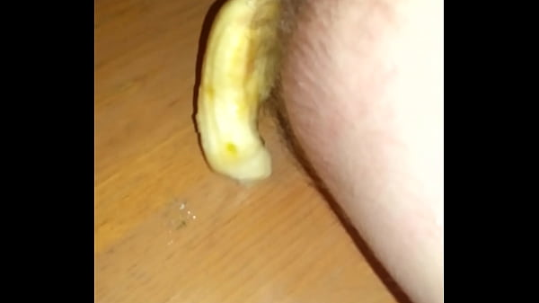 Toy in ass Banana falls out