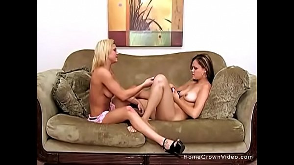 Curious amateur lesbians licking and playing with toys Thumb