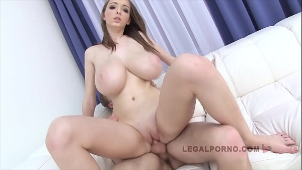 Barely legal babe with big natural tits Lucie Wild's anal creampie firstie
