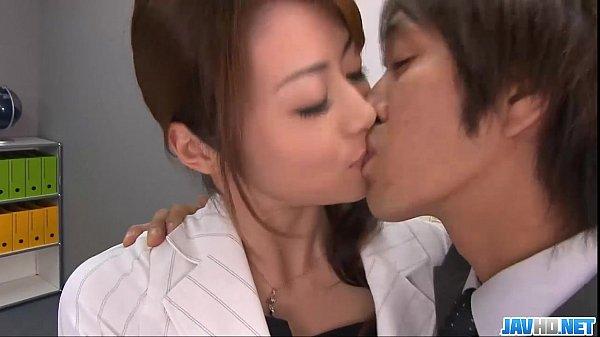 Subtitles - Beautiful Maki Hojo fucked hard in office