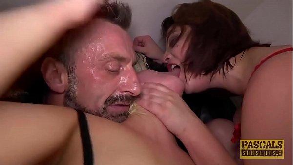 סרטי סקס PASCALSSUBSLUTS – Lucia Love Shares Master Cock In BDSM 3way