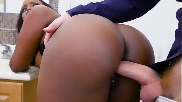 Hot black babe fucked hard by a white guy