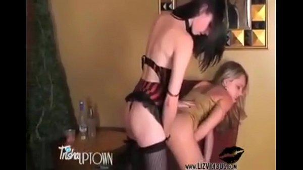 Hottie Miss Liz Vicious Fucks Trisha Uptown Hard with her Strap-on!!