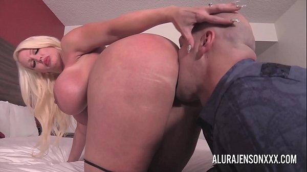 Big tit blonde Alura Jenson fucking a nervous client Thumb