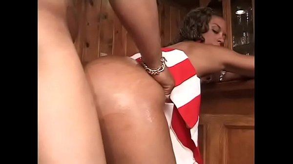 Ebony cheerleader Cotton Candy loves black cock