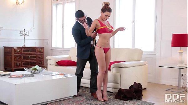 Sexy fitness slut fucks her clothing designers ...