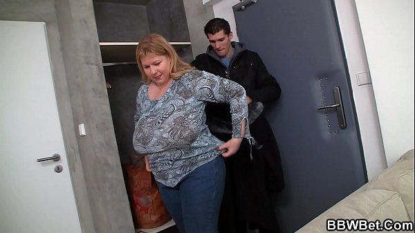 He doggy-fucks huge boobs fat girlfriend Thumb