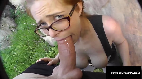 Redhead Horny Hiker Penny Pax Snatch Fucked Outdoors By Wild Hard Cock