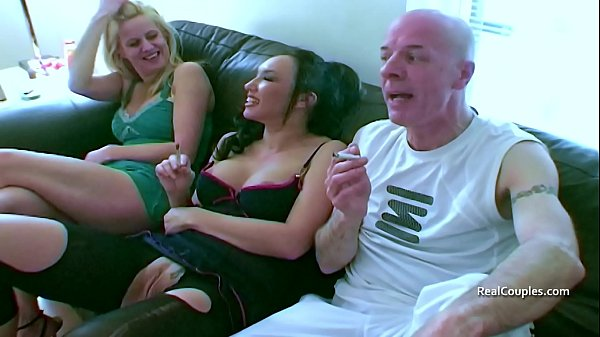 Bi guy and his kinky wife with a MILF and males Thumb