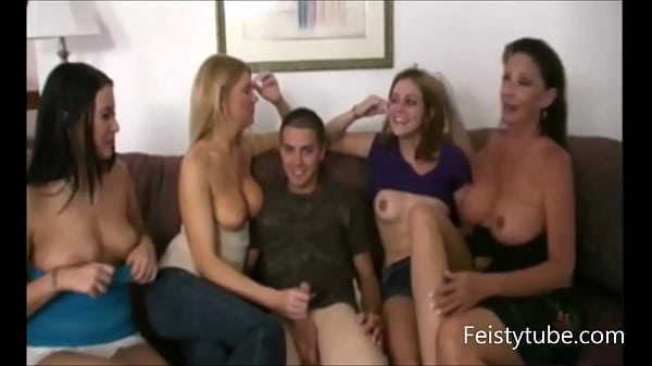 lucky son orgy -Feistytube.com