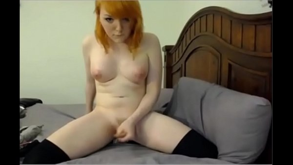Attractive Ginger Shemale Cums