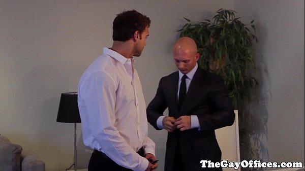 Gay uniform hunks spray their seed