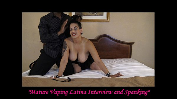 Mature Vaping Latina Interview and Spanking