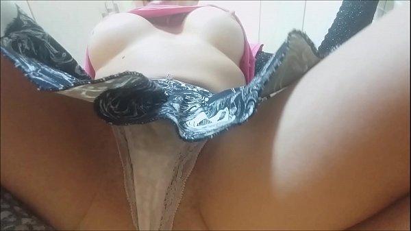 Appetizing ass cock petting