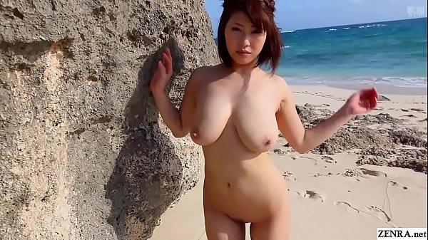 Voluptuous Japanese Mika Utada nude beach adventure
