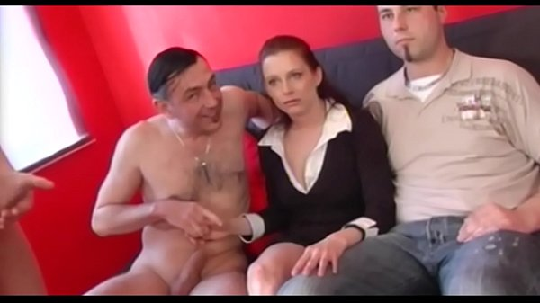Horny milf fucks two dudes