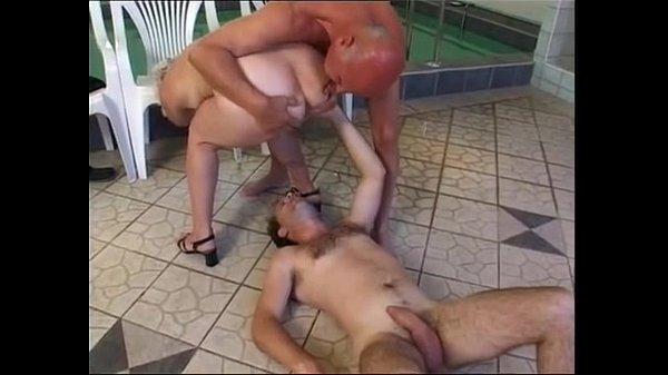 Granny piss and fuck at pool and sauna