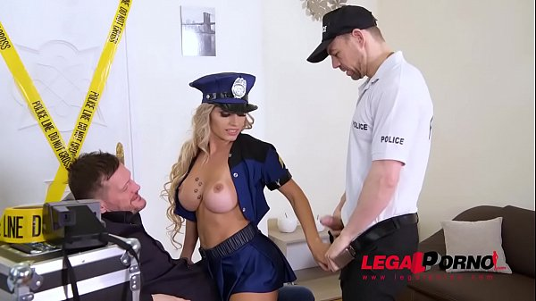 Must-see deep double anal penetration for naughty Police Officer Mia Linz GP830 Thumb