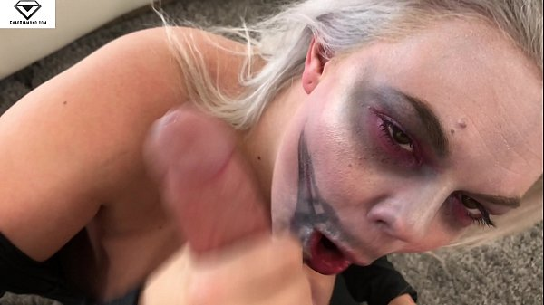 Big Breasted Alice Frost Halloween Skeleton Blowjob & Titty Fucking Thumb
