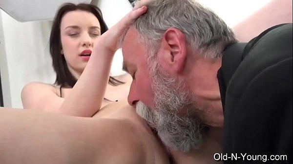 Old-n-Young.com - Lenka C- Old Guy Enjoys a Teen