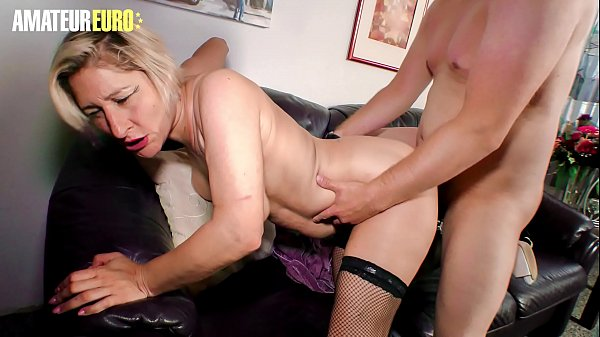 AMATEUR EURO - German Amateur Fucks The Hot Granny Oda Amelie And Shoves His Cock In Her Vintage Pussy