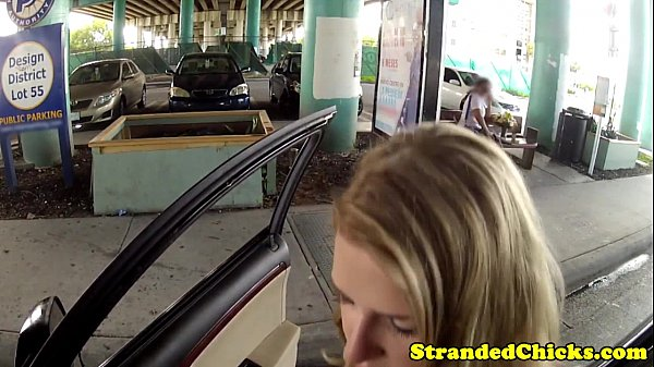 Stranded blonde teen fucked pov style  thumbnail