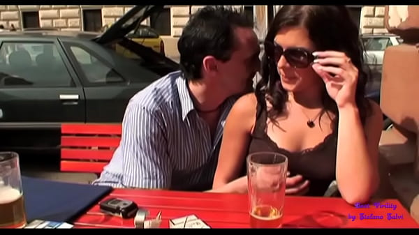 First they touch each other in a bar and then they go to fuck in the public gardens