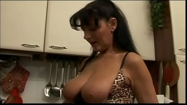 Big tits of an ugly milf in his mouth! Thumb