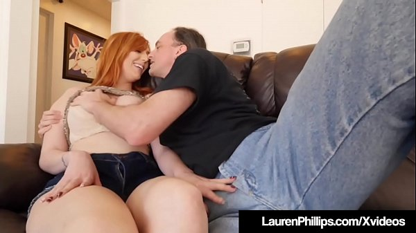Busty Redhead Lauren Phillips Blows & Bangs Her Sex Coach! Thumb