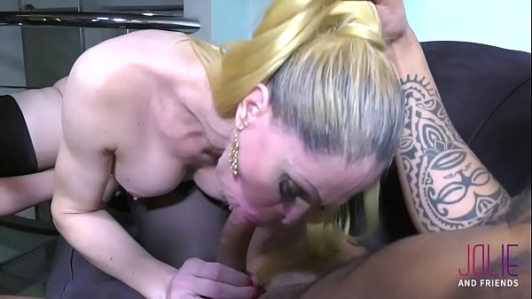 Threesome with squirt girl, guy and hot Tgirl
