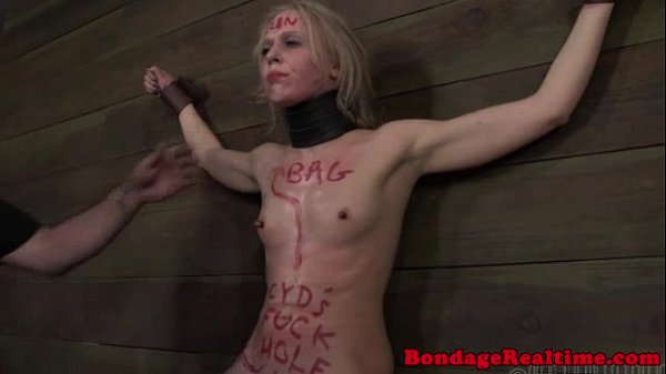 Restrained sub punished by dom
