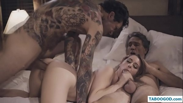 daughter makes a threesome with dad and brother