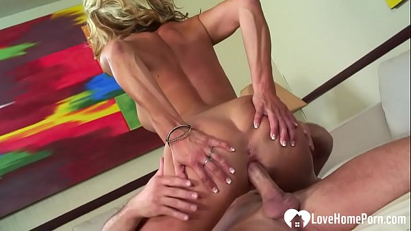 Lonely blonde MILF gets slammed in various positions
