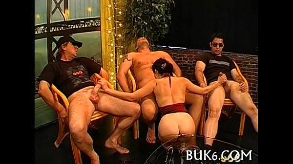 Group pissing on lusty girl Thumb
