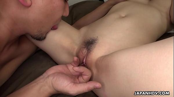 Brunette Asian slut getting her hairy cunt fucked deep