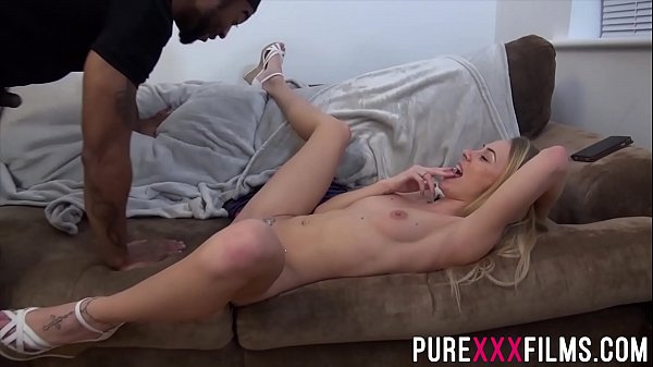 Blonde wife cheats on hubby with a BBC
