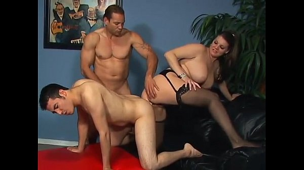 Bicurious male mmf threesome