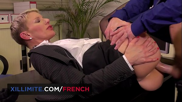 French mature anal fucked in the office Thumb