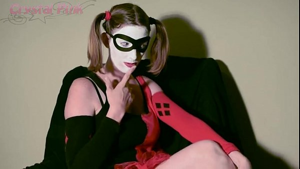 Crystal Pink As Harley Quinn Getting Herself Off