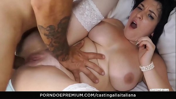CASTING ALLA ITALIANA - Busty Romanian brunette first anal fuck on camera