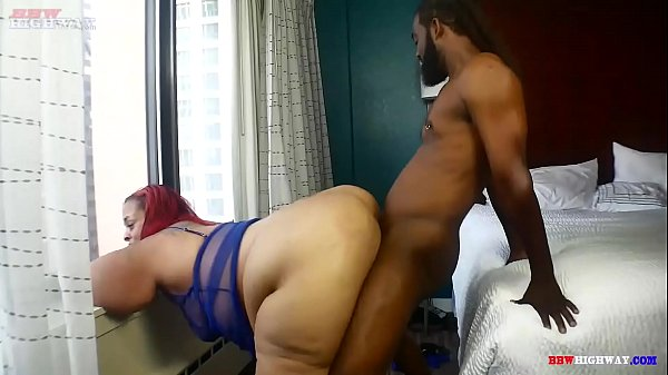 Mr.Stixx bangs his big black cock into bbw mom Strawberry Delight monster ass on BBWHighway.com Thumb