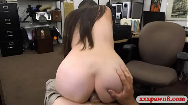 Brunette babe gets fucked by pawn dude at the pawnshop