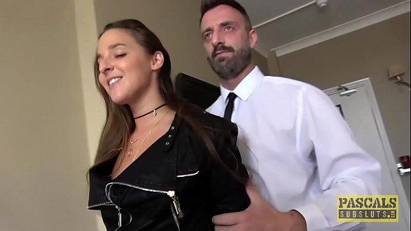 Pornstar whore Amirah Adara fucked rough by older guy