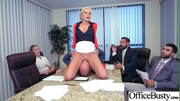 Slut Girl (Nina Elle) With Round Huge Tits Get Nailed In Office vid-21 Thumb