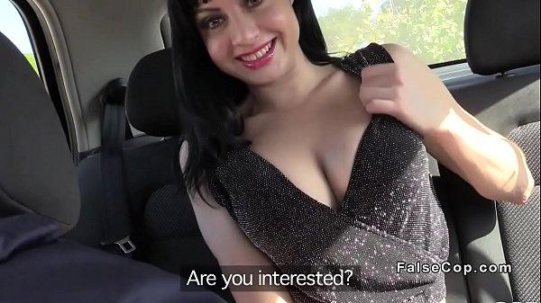 Fake cop anal bangs brunette amateur