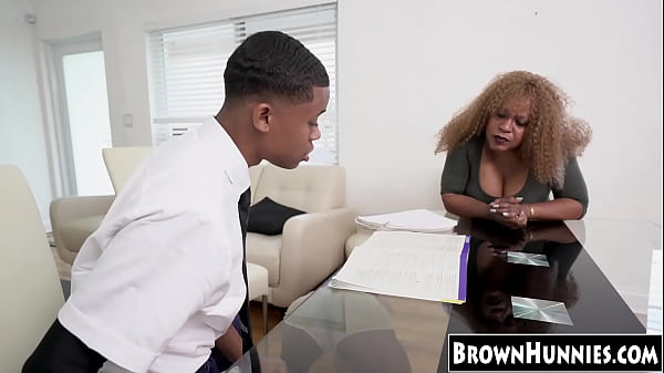 Bootylicious ebony stretched out by really big black cock