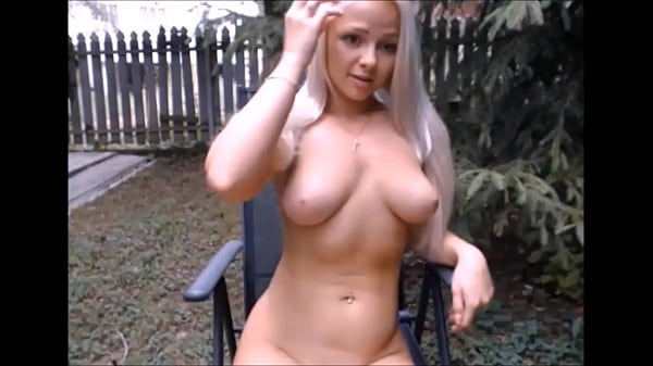 Hot blonde naked in garden - 550cams.com Thumb
