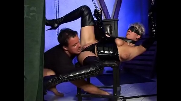 Hot blonde in chains wildly fucked